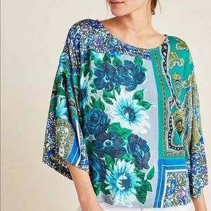 Tiny Anthropologie ellery mixed floral top sz.s